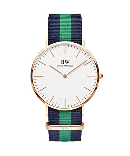 DANIEL WELLINGTON - Reloj de los hombres de 40 mm, DANIEL WELLINGTON WARWICK ORO ROSA DW00100005