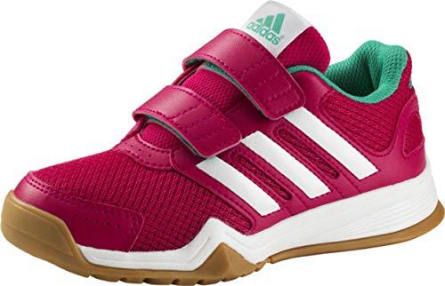 adidas Kinder Indoor Schuhe Interplay CF Pink / Weiss / Mint -29 (EU)