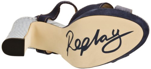 REPLAY - Elyse, Sandali Donna Blu (Blau (Blue))