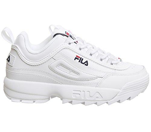 Fila Mujer Blanco Disruptor II Premium Zapatillas-UK 4