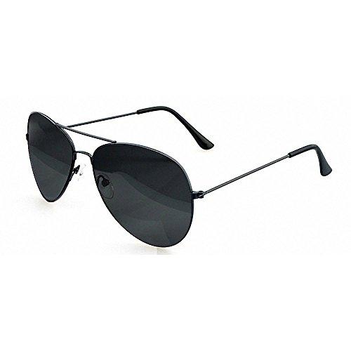 Preisvergleich Produktbild Minetom Donne Gun Style Pilotenbrille Aviator UV400 Fliegerbrille Spiegelbrille Sonnenbrille Brille Holiday Wear Essentials ( Grau )