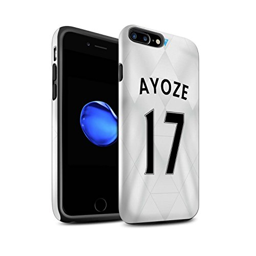 Offiziell Newcastle United FC Hülle / Glanz Harten Stoßfest Case für Apple iPhone 7 Plus / Rivière Muster / NUFC Trikot Away 15/16 Kollektion Ayoze