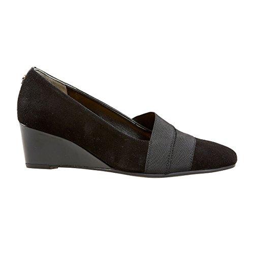 Van Dal Women's Candor Closed-Toe Heels, Black (Black Suede/Patent), 4.5 UK 37.5...
