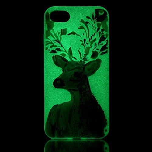 inShang iPhone 7 Hülle 4,7 inch [Transparent iPhone 7 Cover] [Luminous im Dunkeln], Ultra Schlank und leicht TPU Bequem Schutzhülle Rückcover (Back Case) design 16