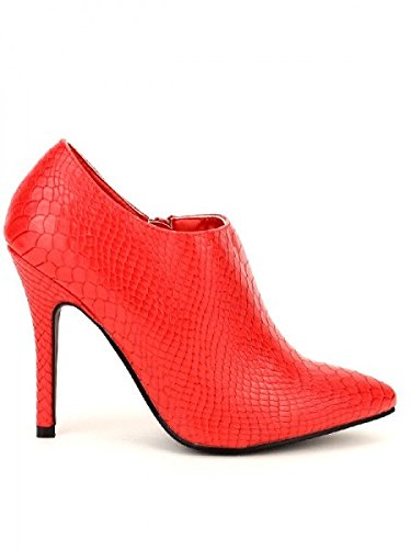 Cendriyon, Lows Boots Croco Rouge MODA Chaussures Femme Rouge