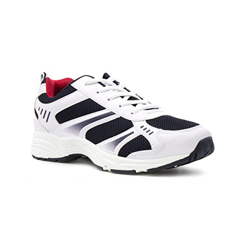 Tick Mens White and Navy Lace Up Trainer - Size 10 UK...