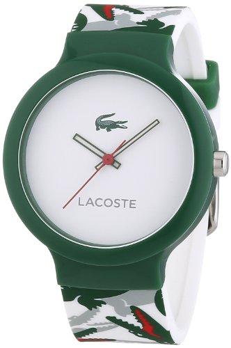 Lacoste 2020060 - Reloj analógico de Cuarzo Unisex, Correa de Silicona Multicolor