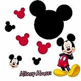 MICKY MAUS Wandsticker mit Kreidetafel als Mickey aus USA