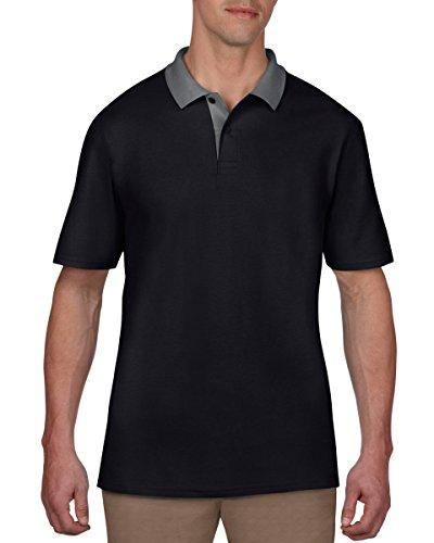Anvil Herren T-Shirt Schwarz/Charcoal