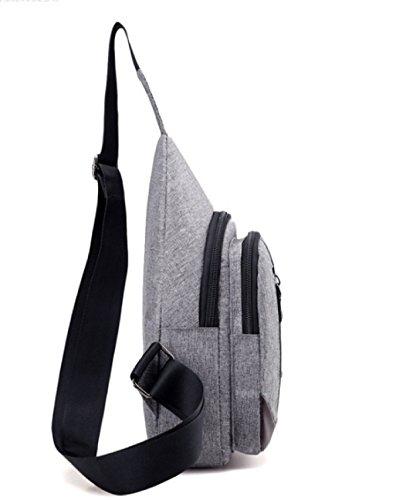 BULAGE Paket Paket Brustbeutel Mannbeutel Städtisch Lässig Einfach Männer Schulter- Messenger Wasserdicht Leicht Grey