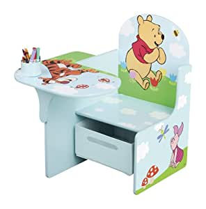 winnie the pooh tisch stuhl kombination mit staufach blau. Black Bedroom Furniture Sets. Home Design Ideas