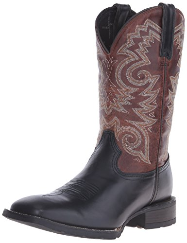 Durango Boot Men's DDB0081 12 Mustang Western Square Toe Boot,Black/Brown Leath