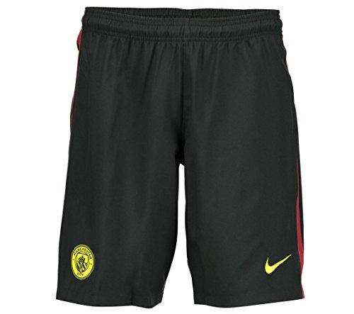 Nike Manchester City YTH Ha3G Stadium Pantalón Corto, Hombre, Negro (Black/OPTI Yellow), XL