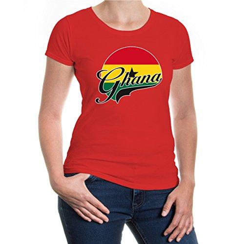 buXsbaum Girlie T-Shirt Ghana-Logo-XXL-Red-z-direct