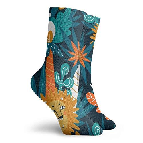 hgfyef Socks for Women Size 10-12,Cute Jungle Lions