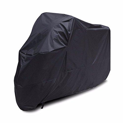 GOZAR XXXL Housse De Moto Noire 295X110X140Cm Imperméable À l'eau pour 400Cc-1000Cc Moto