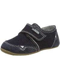 Living Kitzbühel Unisex-Kinder Klettmodell Jeans Hausschuhe
