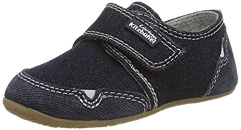 Living Kitzbühel Unisex-Kinder Klettmodell Jeans Hausschuhe, Blau (Jeans), 28 EU
