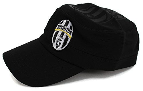 High End Hüte World Soccer/Fußball Team Military Hat Collection Bestickt Flexfit Cap Army Style, Juventus Black Hut Fußball