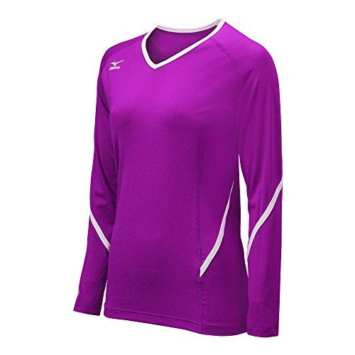 Mizuno Damen Techno Generation Long Sleeve Jersey, Damen, violett/weiß, S