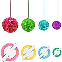 RRigo Pompom Makers, 4 Tailles de Tissage pour Fabriquer des Fabriquer Pompons Boule Maker Pattern Tricot Craft Tricot…