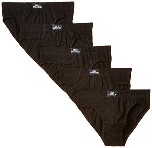 Mick Morrison Herren Slip, 5er Pack, Schwarz (schwarz), Medium (Herstellergröße: M)