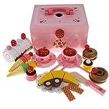 KESOTO Juguete de Pastel de Fresa de Simulación Juego de Corte de Alimentos Magnéticos Regalo de Cumpleaños Navidad para Niños