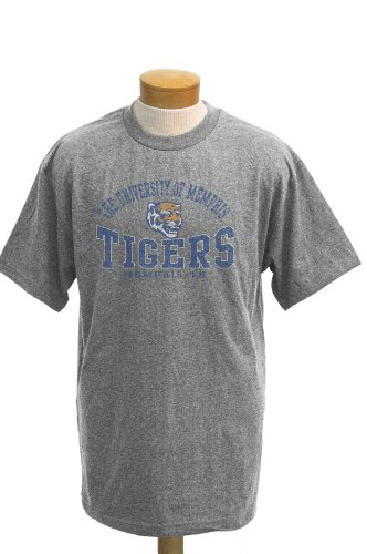 CI Sport NCAA T-Shirt Memphis Tigers Saunders Kurzarm, Herren, Athletic Heathered Grey, Medium - Tiger Athletic T-shirt