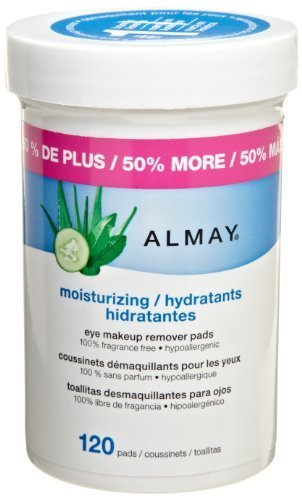 Almay Moisturizing Eye Makeup Remover Pads, 120 Pads by Almay