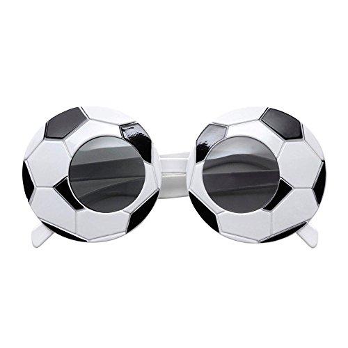 Sport Ideen Kostüm Motto Party (Widmann 6626F - Fuߟballfan-Brille, weiß /)