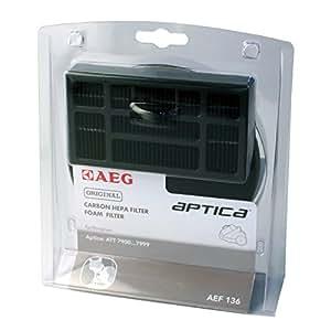 AEG AEF136 Hygiene-Filter-Set , 1 Hygiene-Filter , 1 Motorfilter, für AEG Aptica, ATT 79, Vampyr T10