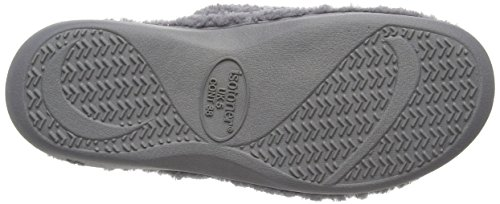 Isotoner Damen Ladies Popcorn Open Toe Slipper Pantoffeln Grey (Pale Grey)