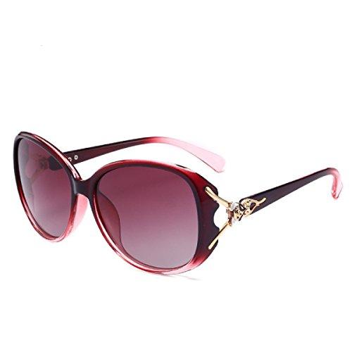 Wkaijc Mode Damen Polarisiertes Licht Schatten Wild Fahren Fox Kopf Sonnenbrillen Sonnenbrillen,D