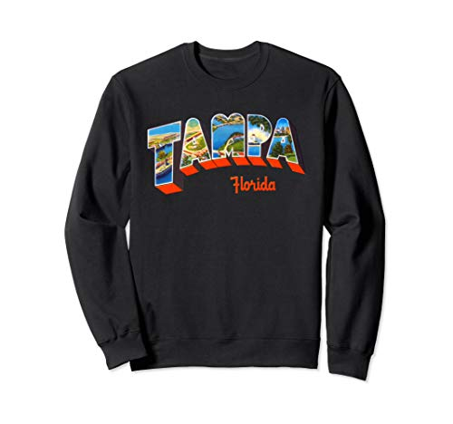 Tampa Florida FL Vintage Retro Souvenir Sweatshirt Florida-retro-sweatshirt