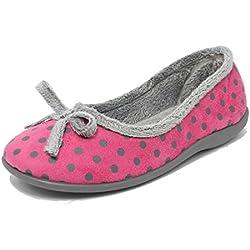 Zapatillas de estar por casa, para mujer, de espuma viscolástica, color rosa o azul con estampado de lunares, tallas 35,5, 37, 38, 39,5, 40,5, 42, color Rosa, talla 40