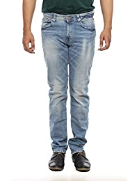 Spykar Mens Light Blue Narrow Fit Low Rise Jeans (Rover) - B06X3VVRMT