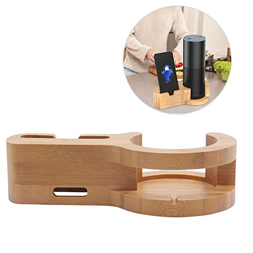 ZYWTZ Aufbewahrungsregal Für Bluetooth-Lautsprecher Bambus Holz Material Handyhalter