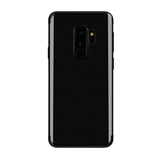 MuSheng Für Samsung Galaxy S9 Plus Hülle, Kristall Transparent Weich Schutzhülle Luxus Glitter Sparkle Ultra Dünne Scratch Glatt Handyhülle (Schwarz) -