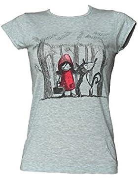 SENSI' T-Shirt Mezza Manica Donna T Shirt Maglia Manica Corta Morbido Micromodal Stampa Cappuccetto Fashion Disegno...
