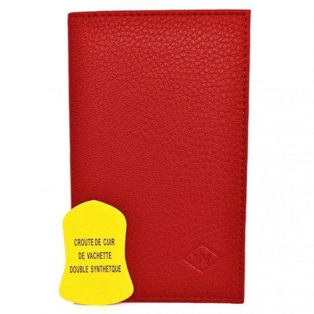 Charmoni - Porte-papiers De Voiture 3 Volets En Cuir De Vachette Neuf Hugo - rouge