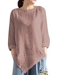 0949ccd95cd Amazon.fr   chemise lin - Femme   Vêtements