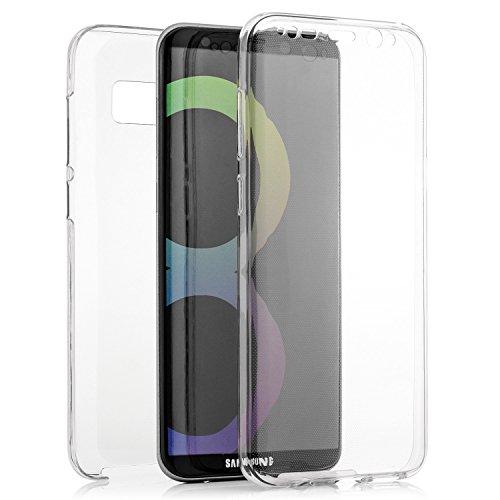 zanasta Designs Silikon Schutzhülle Samsung Galaxy Note 8 Hülle Ultra Slim Case Cover Silikonhülle Premium Soft Shell Schutz für Front- und Rückseite, durchsichtig Grau Transparent