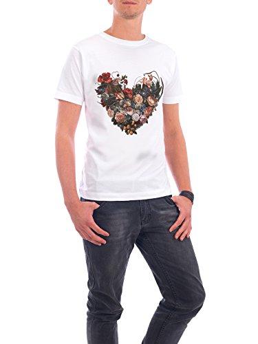 "Design T-Shirt Männer Continental Cotton ""Summer Romance"" - stylisches Shirt Floral Natur Liebe von Liis Roden Weiß"