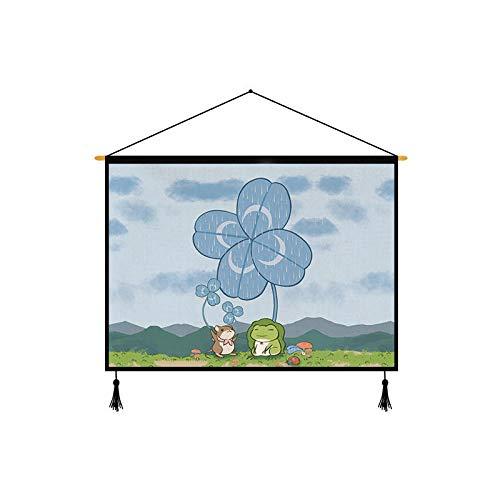 XURANFANG Frische dekorative Malerei Tapisserie Meter Box Cover Tuch Schlafzimmer Wohnzimmer Stoff ins hängen Tuch Hintergrund Tuch @ Travel Frosch 65 * 45_Conventional - Meter Cover