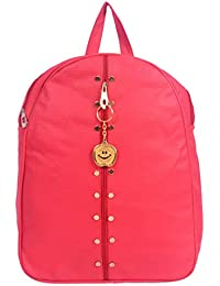 Beets Collection Studded Mini Shoulder Backpack for Women & Girls Bag (Red)