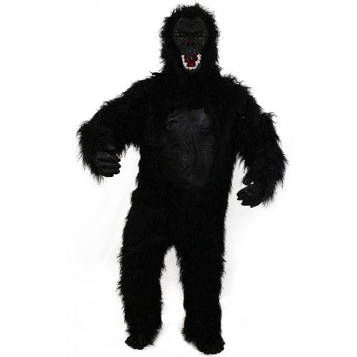 Kostüm Deluxe Gorilla - Sofias Closet Adult Mens Gorilla Costume Big Foot King Kong Scary Black Furry Fancy Dress Monkey Stag Party