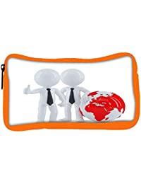 Snoogg Eco Friendly Canvas Business People Standing In Front Of The Globe Business Concept Student Pen Pencil...