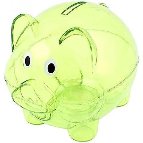 Hucha - SODIAL(R)Hucha coleccionable plastica Ahorro de monedas Caja de dinero en efectivo Claro Verde