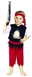 Foxxeo 10204 | Kostüm Pirat Piratenkostüm Seeräuber Freibeuter für Kinder Kinderkostüm Gr. 98 - 116, Größe:104