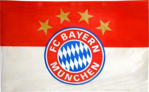 Fahne 90x60cm Logo rot/weiß